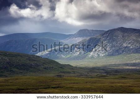 Highlands landscape in Scotland, isle of Skye, UK, Europe - stock photo