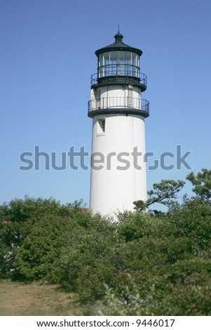 Highlands Lighthouse on cape Cod - stock photo