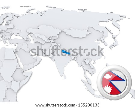 Nepal Map Stock Images RoyaltyFree Images Vectors Shutterstock - Nepal on map