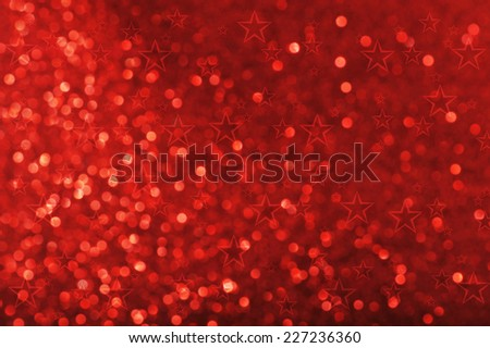highlighted red sparkle background for Christmas  - stock photo