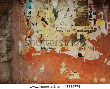 highly Detailed advertise textured grunge background - stock photo