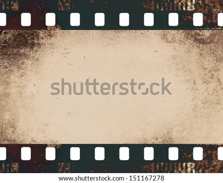highly detailed film frame - stock photo