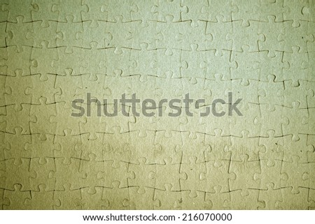 highly detailed puzzle background frame - stock photo