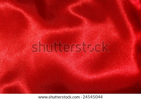 highly detailed red silk texture - stock photo