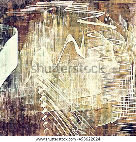 Highly detailed scratched texture, aged grungy background. Vintage style composition with different color patterns: yellow (beige); brown; gray; purple (violet); white; pink - stock photo