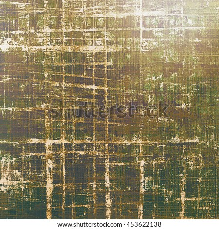 Highly detailed scratched texture, aged grungy background. Vintage style composition with different color patterns: yellow (beige); brown; gray; green; purple (violet); white - stock photo