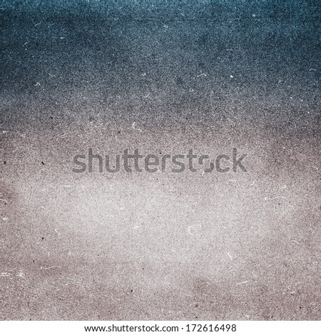 Highly detailed textured grunge paper background frame. High resolution recycled cardstock with halftone.  - stock photo