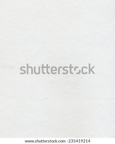 Highly textured white watercolor paper as background. - stock photo