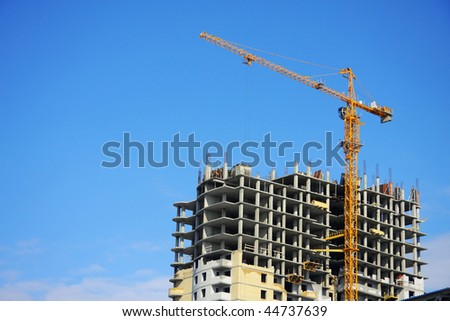 Highrise Construction Site on clear blue sky (look similar images in my portfolio)