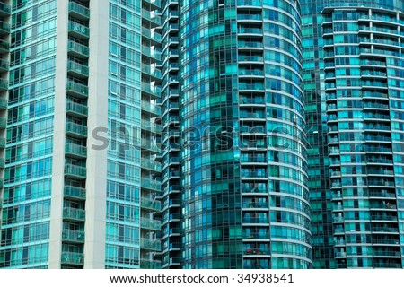 Highrise Residential Density in an Urban Setting - stock photo