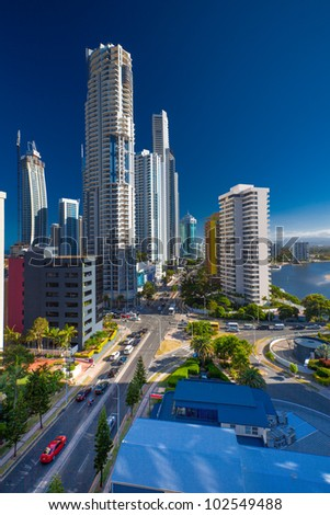Highrises in Surfers Paradise, Queensland, Australia - stock photo