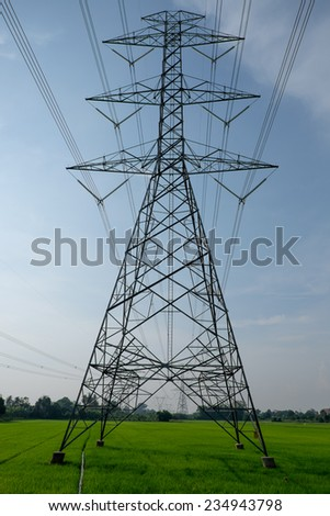 Hight voltage electricity post