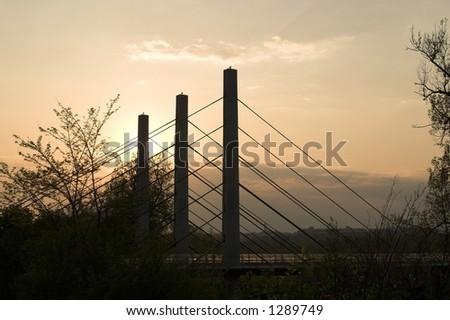 highwas bridge - stock photo