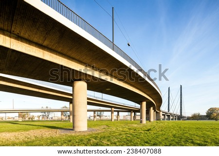 Highway and bridge - stock photo