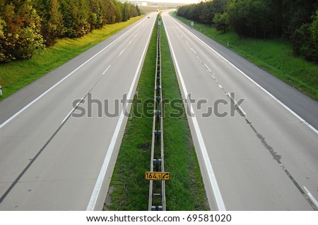 Highway D1 in the Czech Republic - stock photo