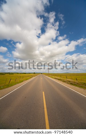 Highway disappearing into the distance