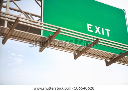 HIghway exit sign - stock photo