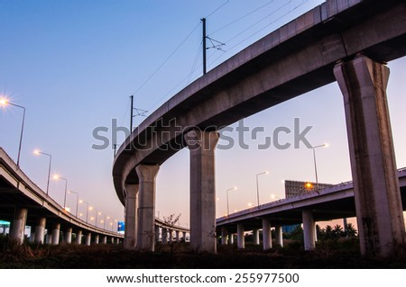 highway express on sky. - stock photo