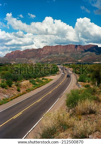 Highway 60 going into Superior Arizona