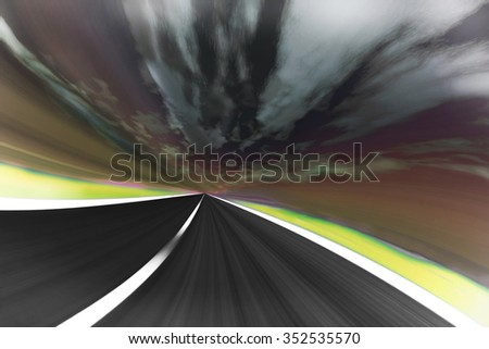 highway in motion - stock photo