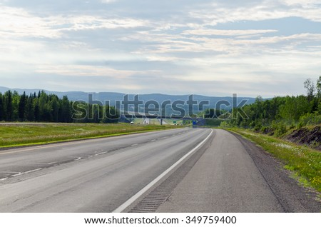 Highway in North part of New Brunswick, Canada