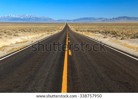 Highway 6 in rural Nevada, USA. - stock photo