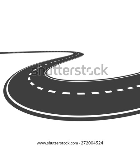 highway isolated on a white background - stock photo