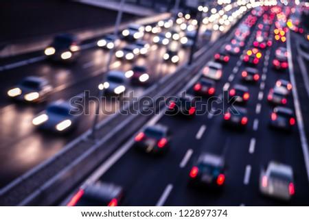 highway night - stock photo