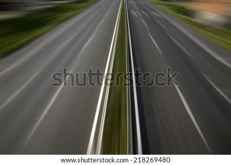 Highway overlooking  - stock photo