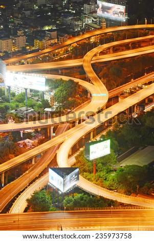 highway overpass in bangkok  - stock photo