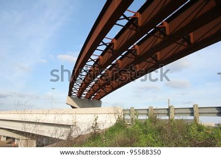 highway overpass under construction - stock photo