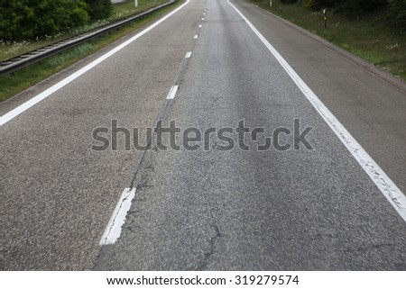 highway road - stock photo