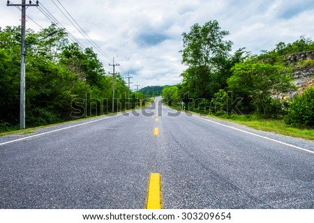 Highway road nature environment countryside - stock photo