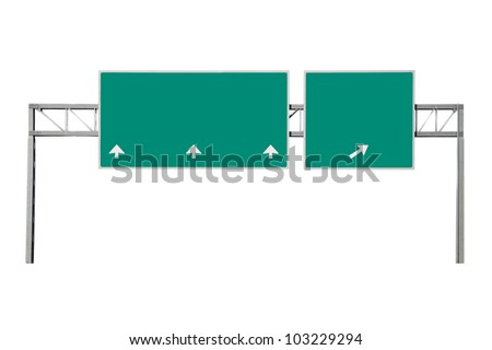 Highway road sign - stock photo