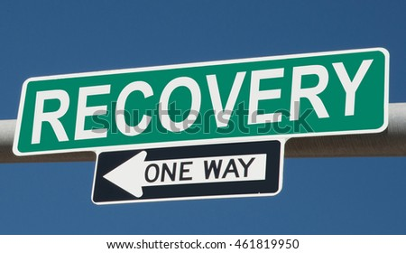 "Highway sign ""recovery one way"""