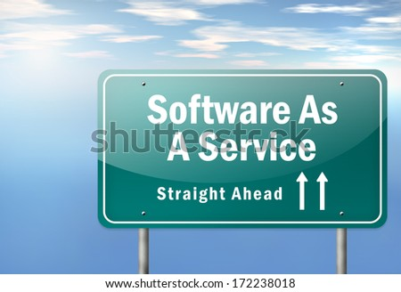 Highway Signpost with Software As A Service wording - stock photo