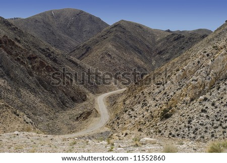 Highway Through The Death Valley Hills California