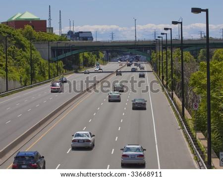 Highway & traffic - stock photo