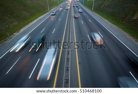 highway traffic car top view