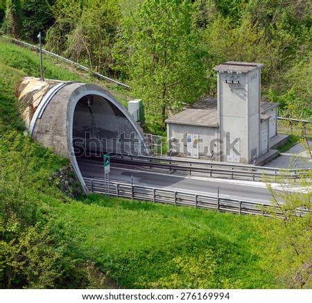 Highway tunnel - stock photo