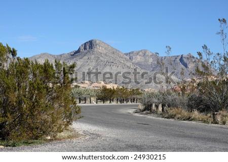 Highway Winding Through the Desert - stock photo