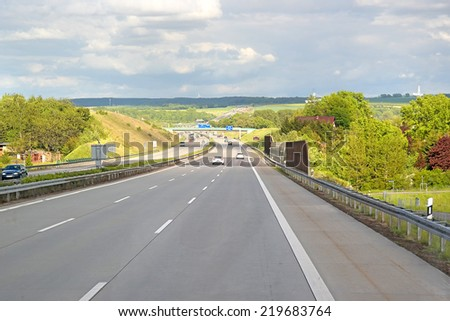 Highways in the center of Europe - stock photo