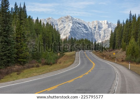Highwood Pass, Kananaskis Country, Alberta, the highest highway in Canada