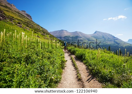 Hike in Glacier National Park,Montana