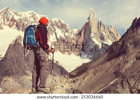 Hike in Patagonia - stock photo
