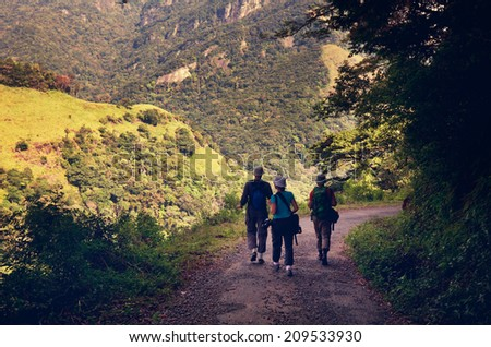 hike on Sri Lanka - stock photo