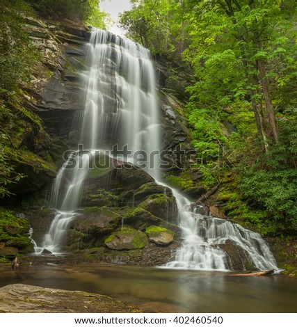 Hiking in Western North Carolina has its rewards. Upper Catawba Falls is such a place. The hike is hard as using a rope to pull yourself up is part of getting there. But the beauty makes it worth it.