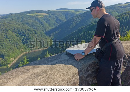 hiking man, Black Forest, Germany