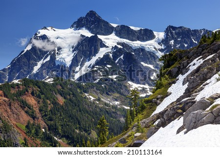 Hiking Snowfields Glaciers Artist Point Mount Shuksan Mount Baker Highway Snow Mountain Washington Pacific Northwest