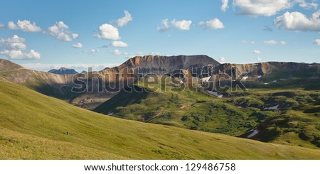 Hiking the Colorado Trail, Rocky Mountains, Colorado. - stock photo